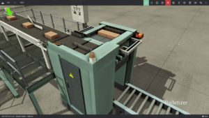 Afbeelding van FactoryIO Palletizer simulatie